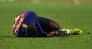 برشلونة يعلن خضوع عثمان ديمبلي لعملية جراحية على وتر الركبة اليمنى 28 يونيو