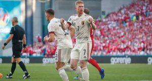 دي بروين يقلب الطاولة على الدنمارك وينقذ بلجيكا من الهزيمة