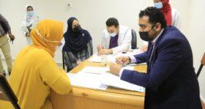 فحص طبى عن سرطان الثدى بالمستشفى الجامعى بكفر الشيخ لـ 100 سيدة.. صور