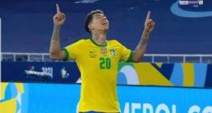 """كوبا أمريكا.. البرازيل تتعادل مع كولومبيا 1-1 برأسية فيرمينو """"فيديو"""""""
