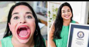 أمريكية تدخل جينيس لأكبر فم وتجنى بفيديوهاتها 11 ألف إسترلينى.. صور