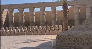 """آخر تطورات طريق الكباش.. ترميم 19 تمثالا بالفناء المفتوح بمعبد الكرنك """"فيديو"""""""