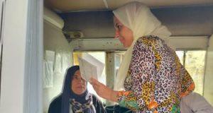 سيارة متنقلة للتطعيم بلقاح كورونا تيسيرا على المواطنين فى كفر الشيخ.. صور