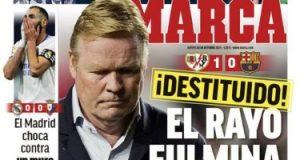 ريال مدريد لبس فى الحيط وإقالة كومان أبرز عناوين صحف إسبانيا.. صور